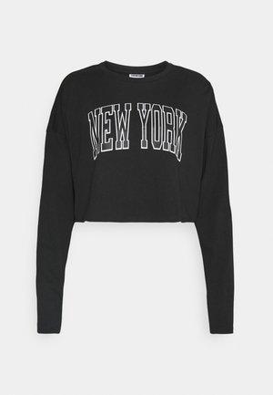 NMFRIDA MIX - Maglietta a manica lunga - black