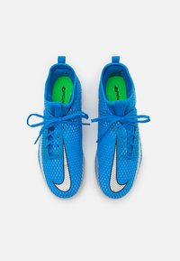 Nike Performance - JR PHANTOM GT ACADEMY DF IC UNISEX - Indoor football boots - photo blue/metallic silver/rage green - 3