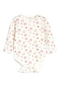 Next - DENIM BUNNY EMBROIDERED DUNGAREES AND FLORAL BODYSUIT SET (0MTHS - Body - blue - 2