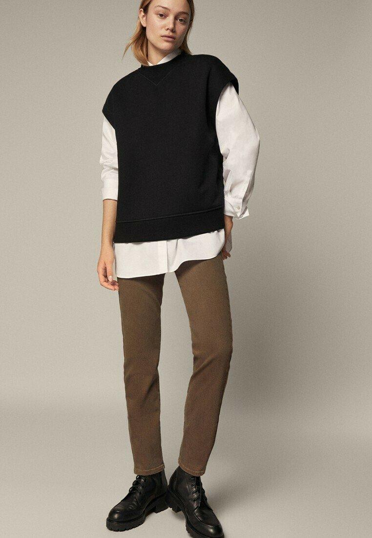 Massimo Dutti - Slim fit jeans - brown