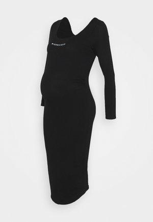 LONG SLEEVE DRESS - Žerzejové šaty - black