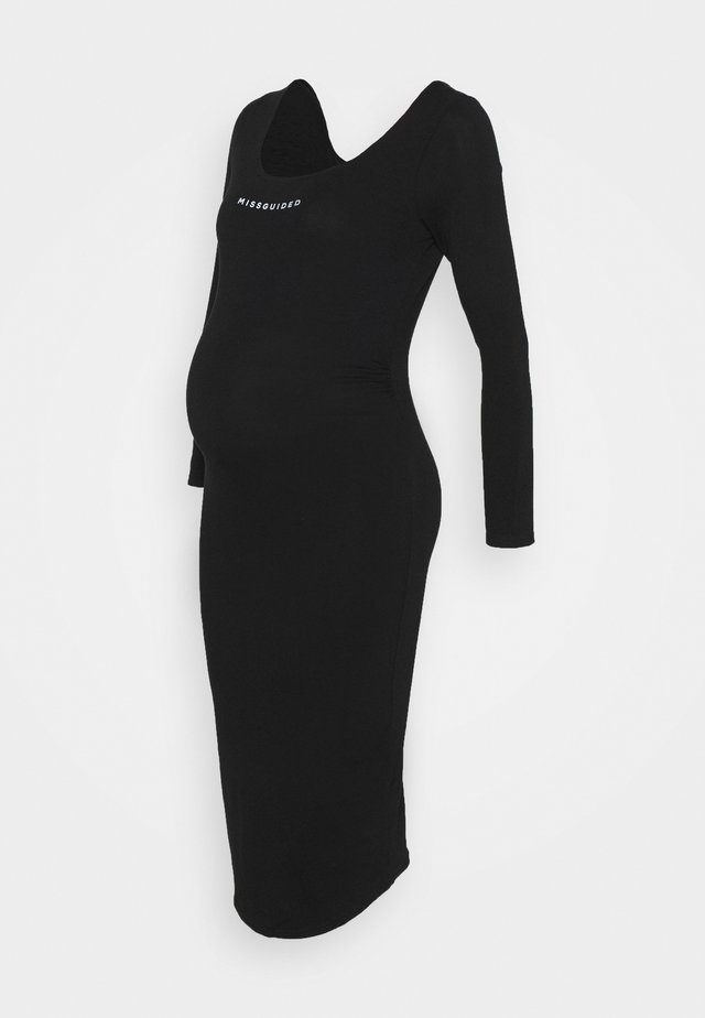 LONG SLEEVE DRESS - Jersey dress - black