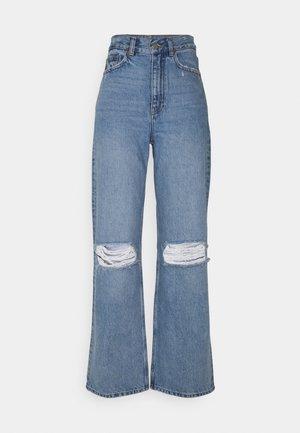 ECHO - Jeansy Straight Leg - blue jay ripped