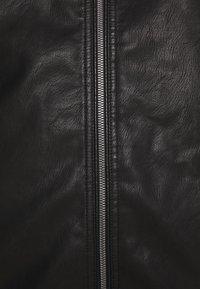 TOM TAILOR MEN PLUS - BIKER JACKET - Faux leather jacket - black - 6