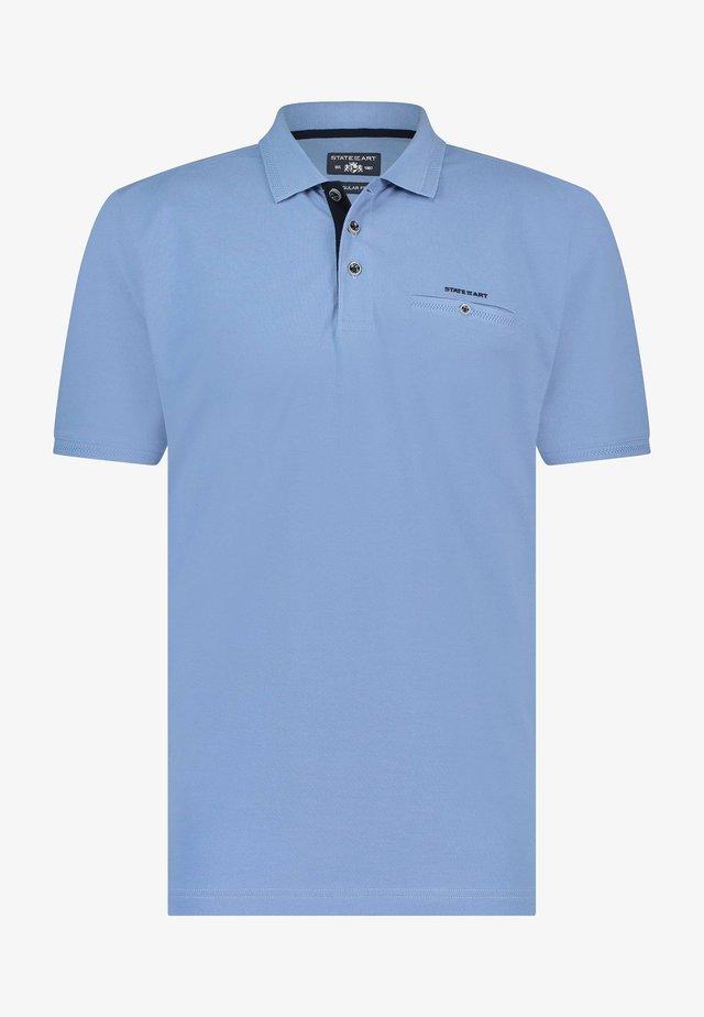Poloshirt - blue plain