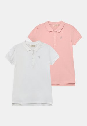 2 PACK - Polo shirt - gossamer pink/bright white