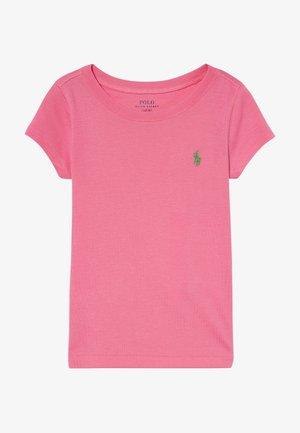 Jednoduché triko - baja pink/cycle green