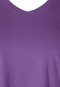Zizzi - T-shirt basic - purple - 4