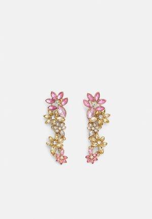 PCPELLA EARRINGS - Orecchini - gold-coloured/champagne/clear/pink