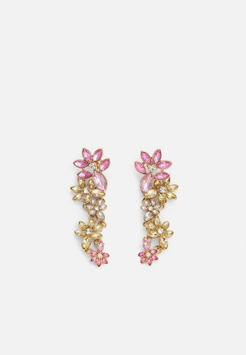 PCPELLA EARRINGS - Earrings - gold-coloured/champagne/clear/pink