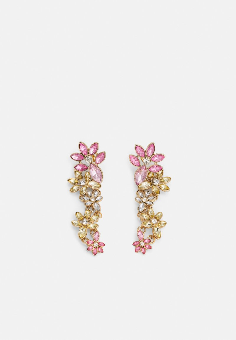 Pieces - PCPELLA EARRINGS - Earrings - gold-coloured/champagne/clear/pink