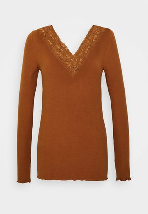 PCSIRI  - Long sleeved top - mocha bisque