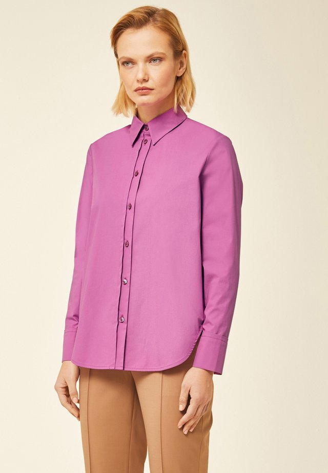 Button-down blouse - super pink