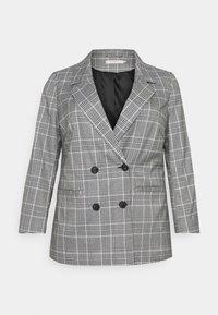 ONLY Carmakoma - CARDITA CHECK - Short coat - white - 4