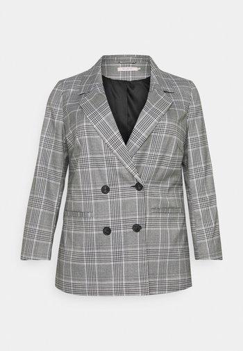 CARDITA CHECK - Short coat - white