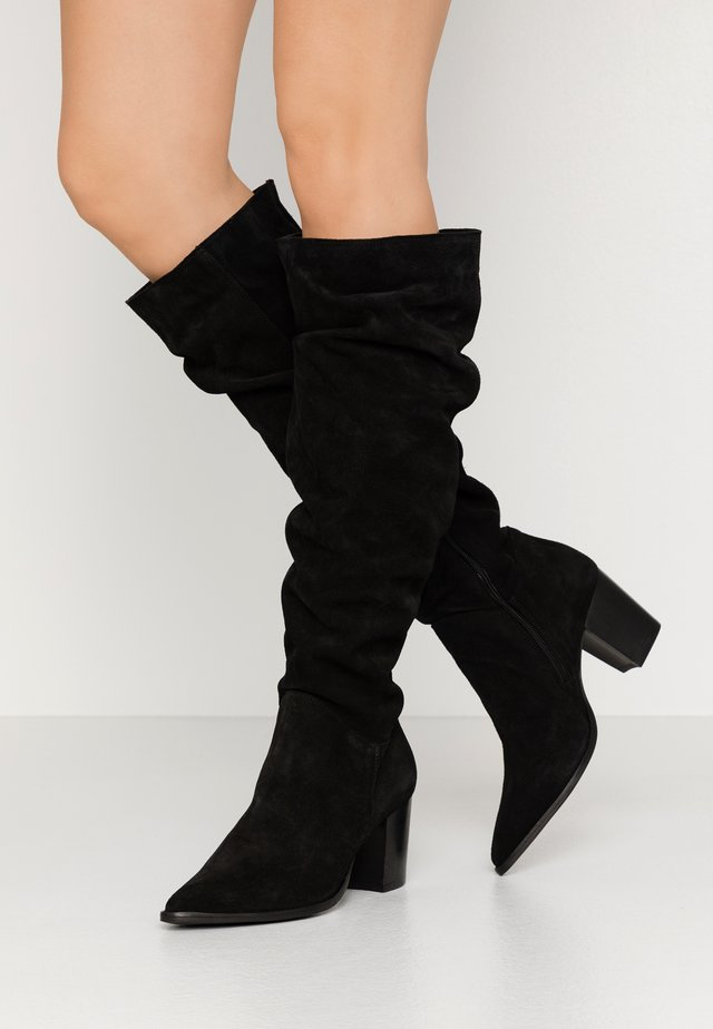 LEATHER BOOTS - Stiefel - black