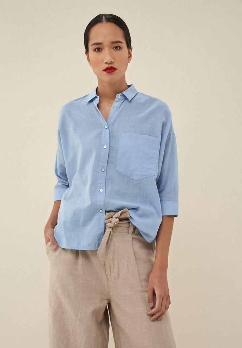 Salsa - MAGDALENA  - Button-down blouse - blau_8045