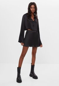 Bershka - Button-down blouse - black - 1