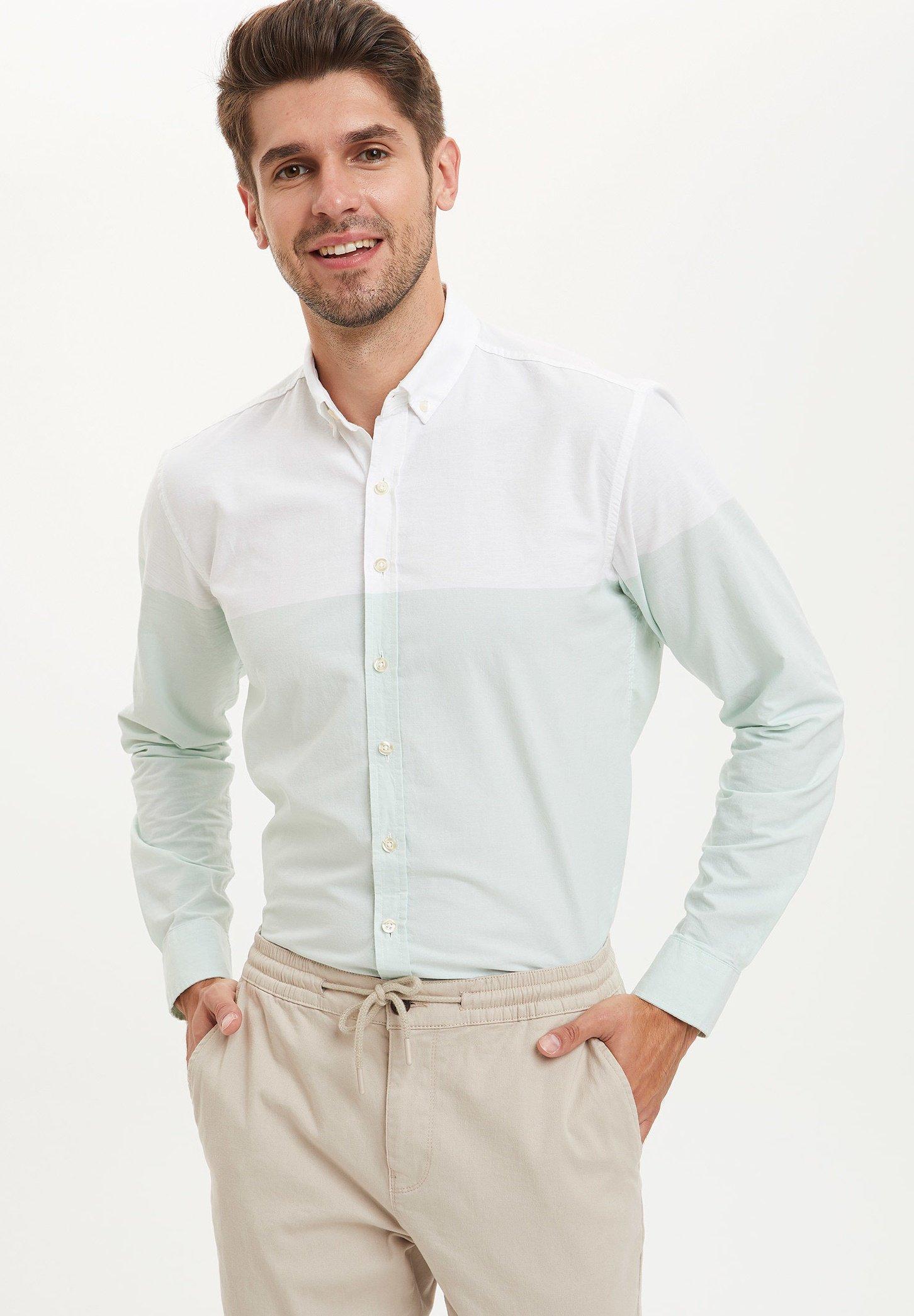 Camisa Oxford Regular fit Blanco naturalTigres HOMBRE