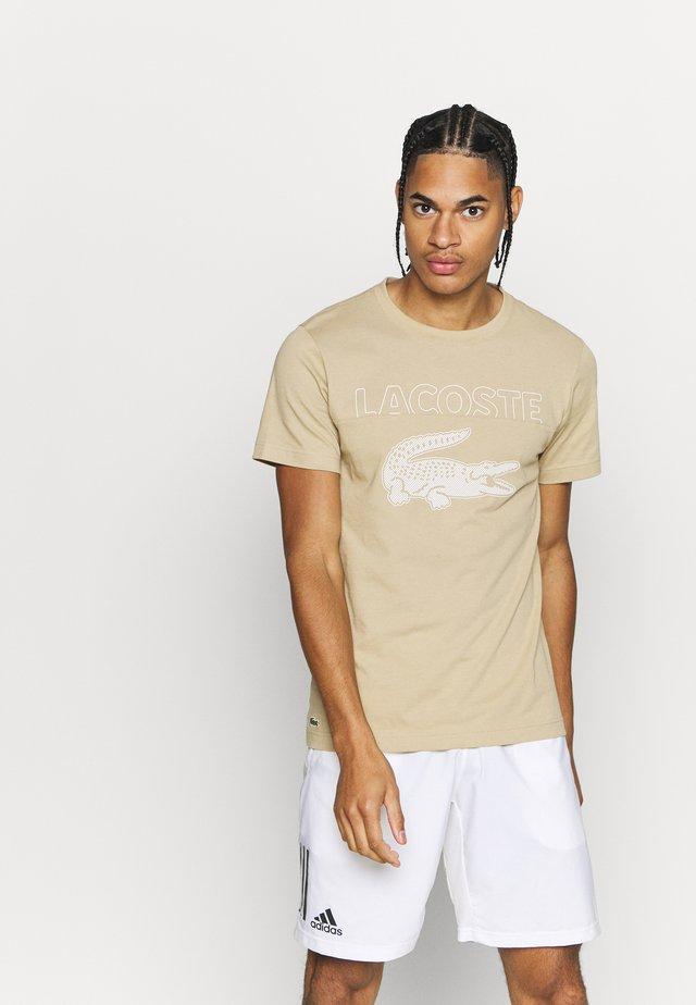 LOGO SLOGAN - T-shirt con stampa - viennese/flour gladiolus