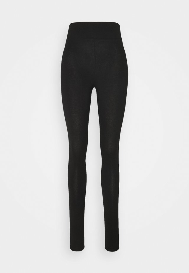 SIDE STRIPE LEGGING - Leggingsit - black