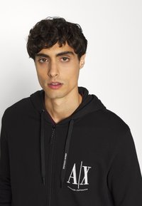Armani Exchange - Zip-up hoodie - black - 3
