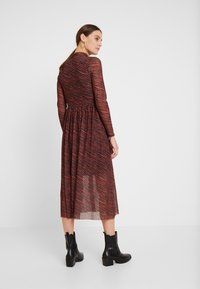 TOM TAILOR DENIM - PRINTED MESH DRESS - Day dress - brown/zebra - 3