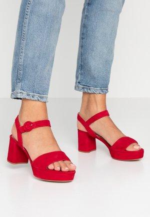 NENES - Platform sandals - chilli