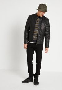 Only & Sons - ONSMIKE RACER - Faux leather jacket - black - 2