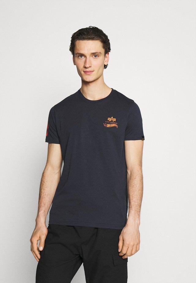 FLAME - Print T-shirt - blue