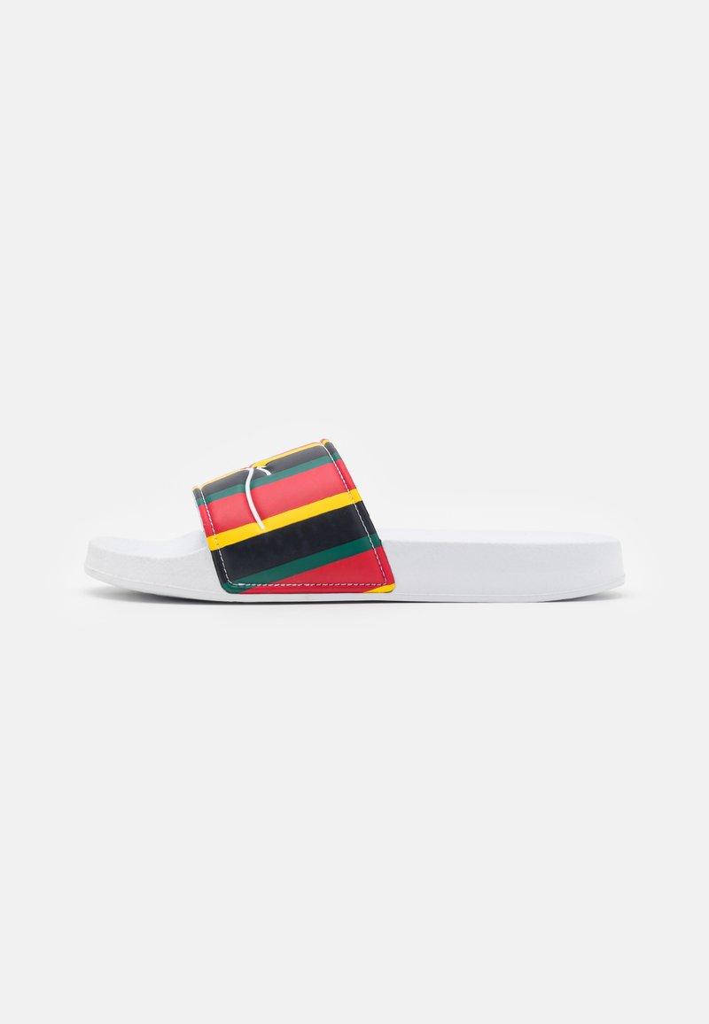 Karl Kani - SIGNATURE STRIPE POOL SLIDES  - Mules - red/navy/yellow