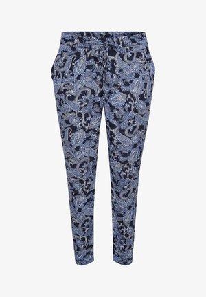 Trousers - blue paisley print