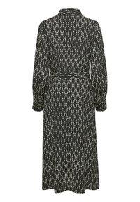 Kaffe - Shirt dress - black / sand chain print - 6
