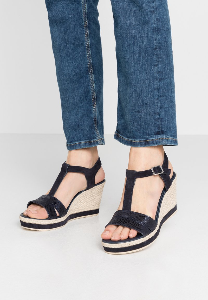Marco Tozzi - High heeled sandals - navy