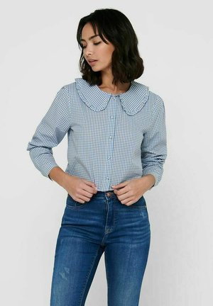 Button-down blouse - coronet blue