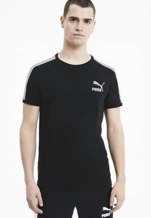 ICONIC SLIM - Print T-shirt - puma black-puma white