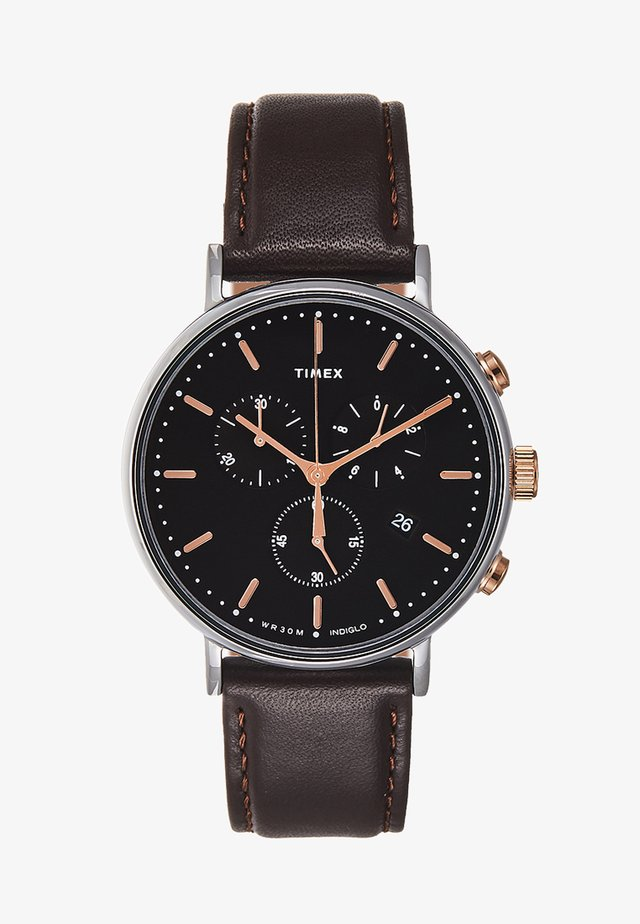 FAIRFIELD CHRONOGRAPH SUPERNOVA 41 mm - Hodinky se stopkami - dark brown/black