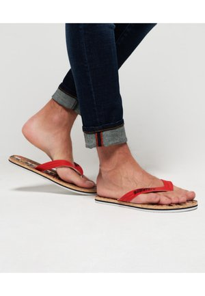 MIT KORKSOHLE IN LEUCHTENDEN FARBEN - T-bar sandals - multi-coloured