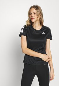 adidas Performance - OWN THE RUN TEE - Triko s potiskem - black - 0
