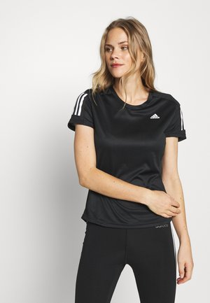 OWN THE RUN TEE - T-shirt imprimé - black