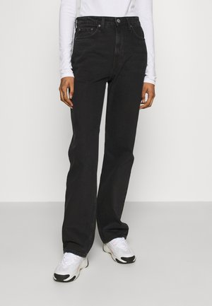 VOYAGE LOVED - Straight leg jeans - echo black