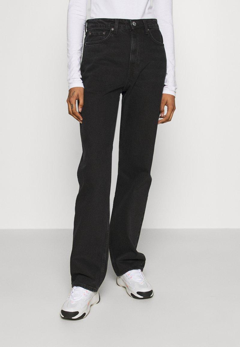 Weekday - VOYAGE LOVED - Straight leg jeans - echo black