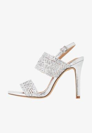 STILLA - High heeled sandals - silver