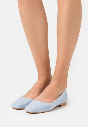 SQUARE TOE - Ballet pumps - light blue/grey