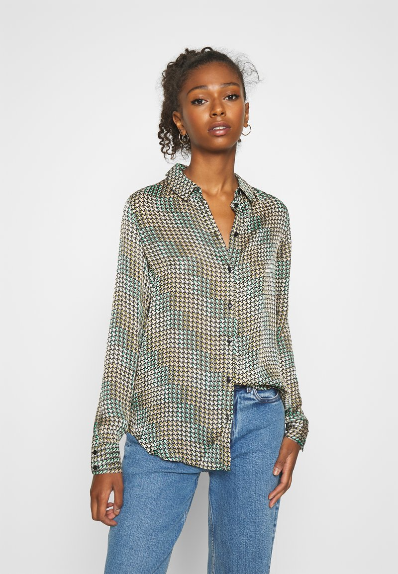 Vero Moda - VMBERTA LS  - Button-down blouse - fir green/berta