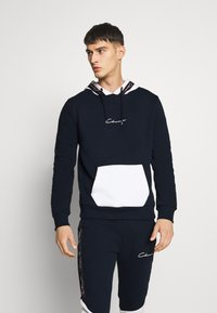 CLOSURE London - CONTRAST HOOD WITH TAPING - Sweat à capuche - navy - 0