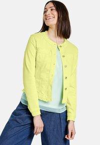 Gerry Weber - MIT FRANSENKANTE - Denim jacket - light lime - 0