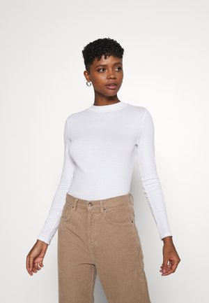 SAMINA - Long sleeved top - white solid