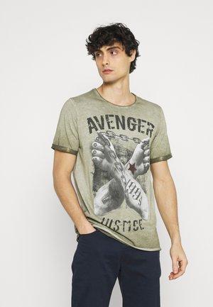 LIBERATE ROUND - T-shirt con stampa - dark green