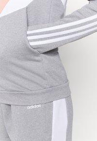 adidas Performance - COLORBLOCK - Tracksuit - ambient blush/medium grey heather/white - 8